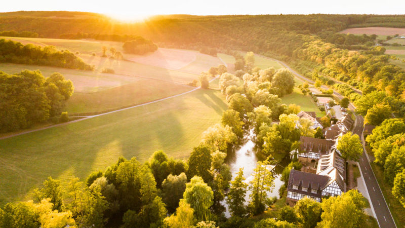 Romantik Hotel Neumühle Luftaufnahme